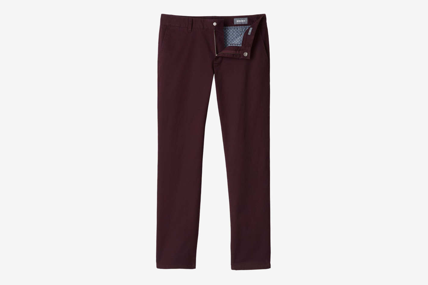 Men's Slim Fit Stretch Washed Chino Pants, Plum