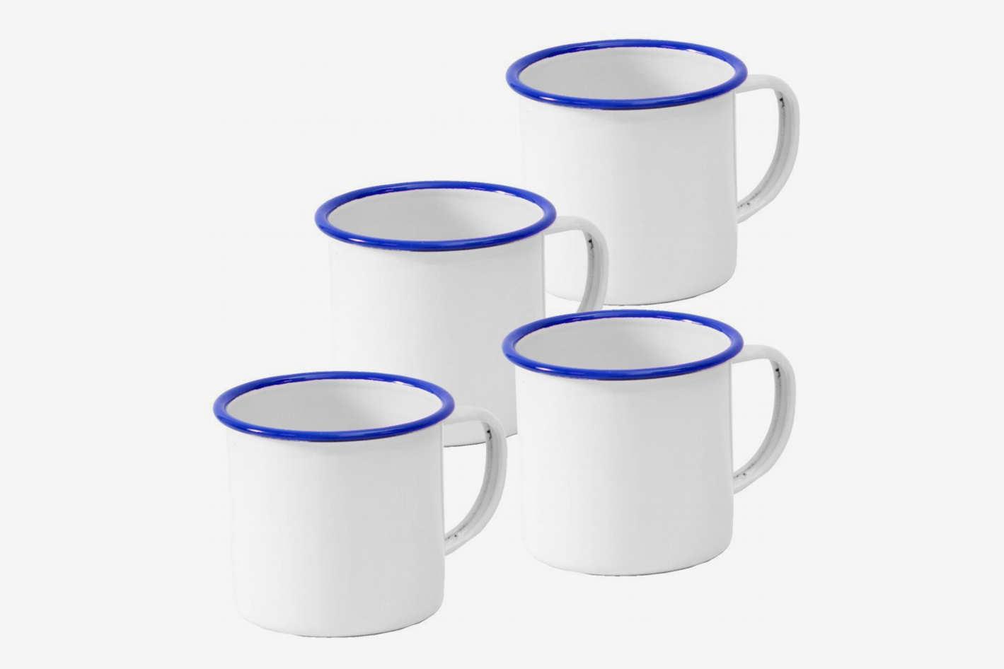 Crow Canyon Home Enamelware Mug, Set of 4