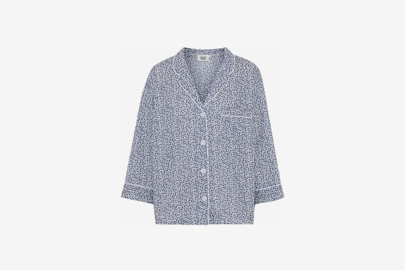 Printed Cotton Pajama Shirt