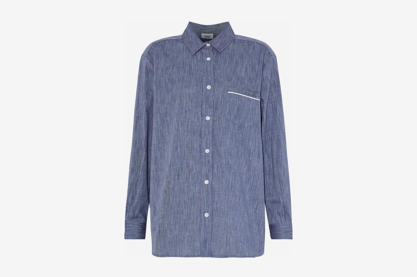 Cotton-Chambray Nightshirt