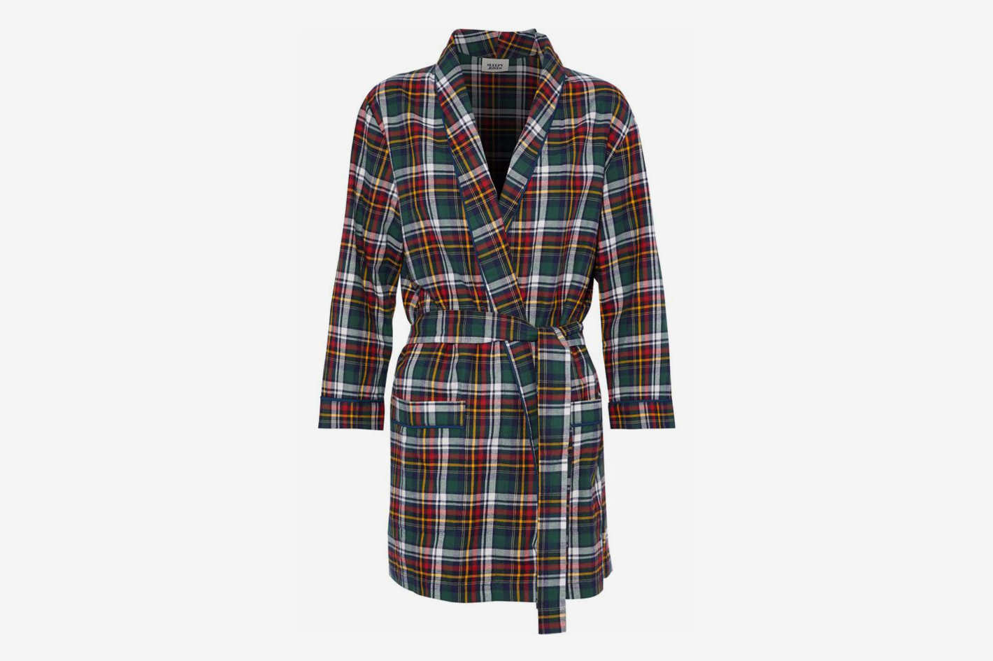 Louise Checked Cotton-Flannel Robe