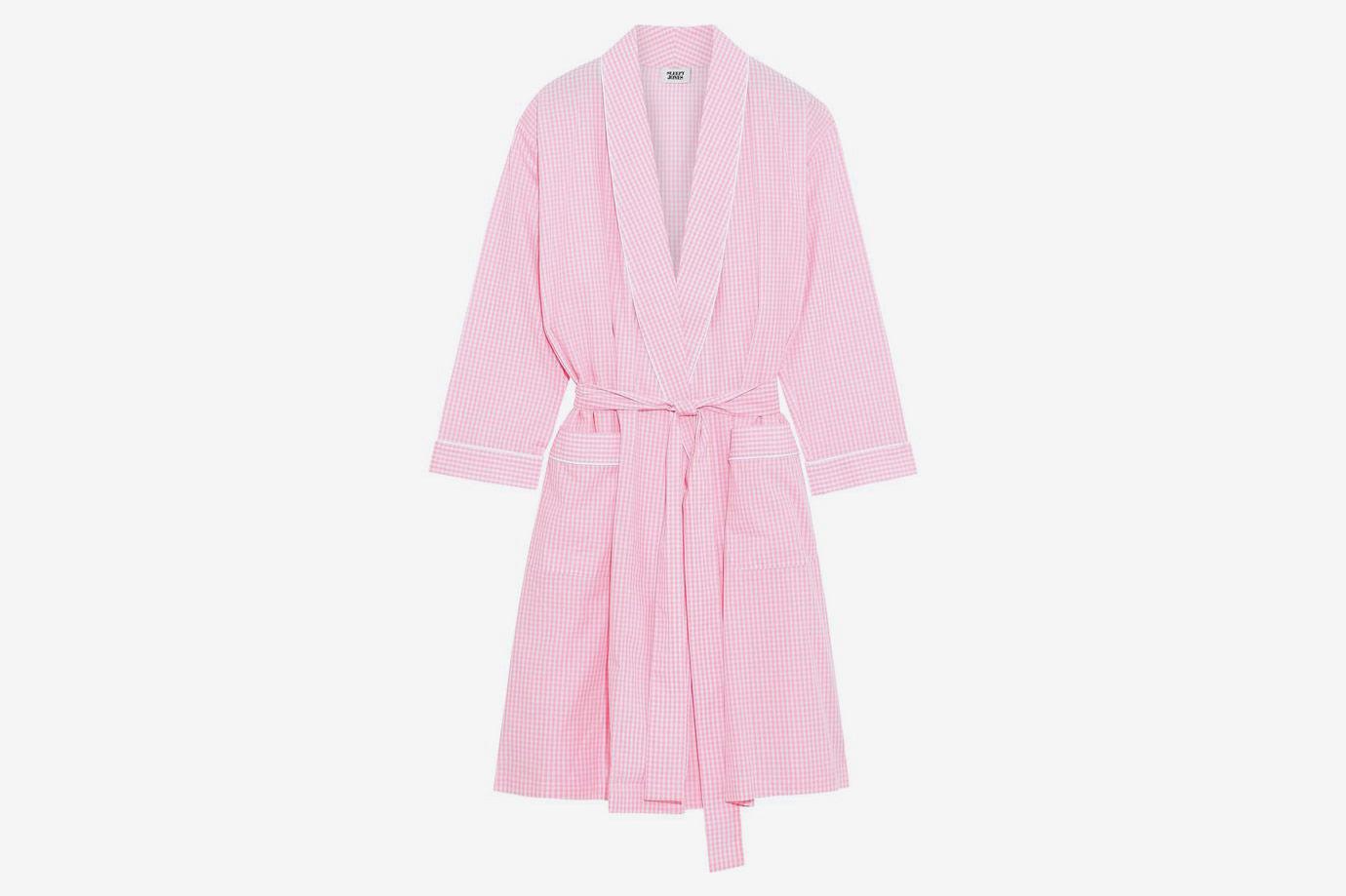 Isa Gingham Cotton Robe