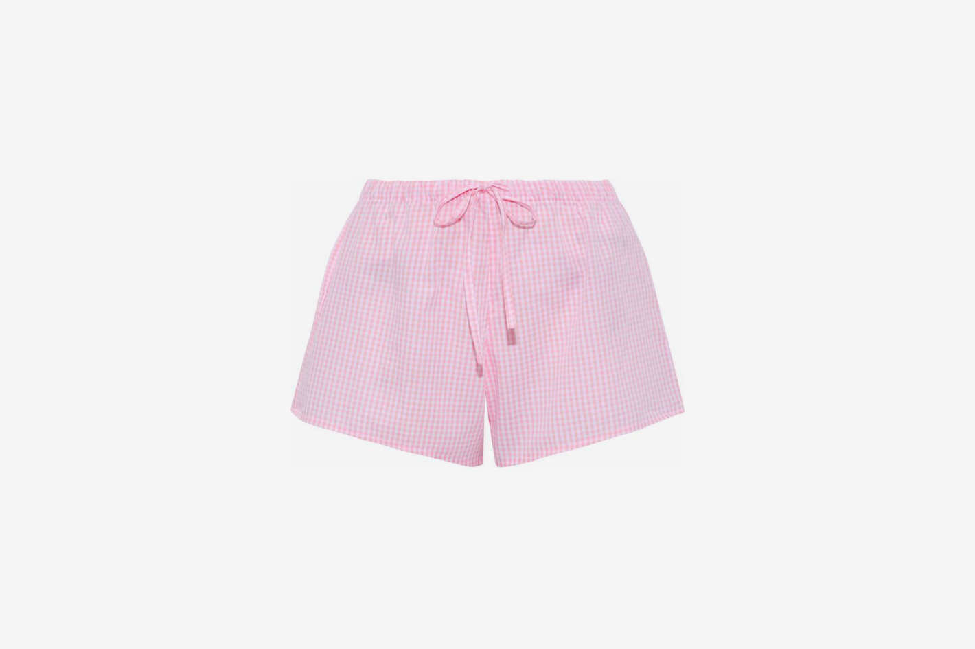 Gingham Cotton-Poplin Pajama Shorts