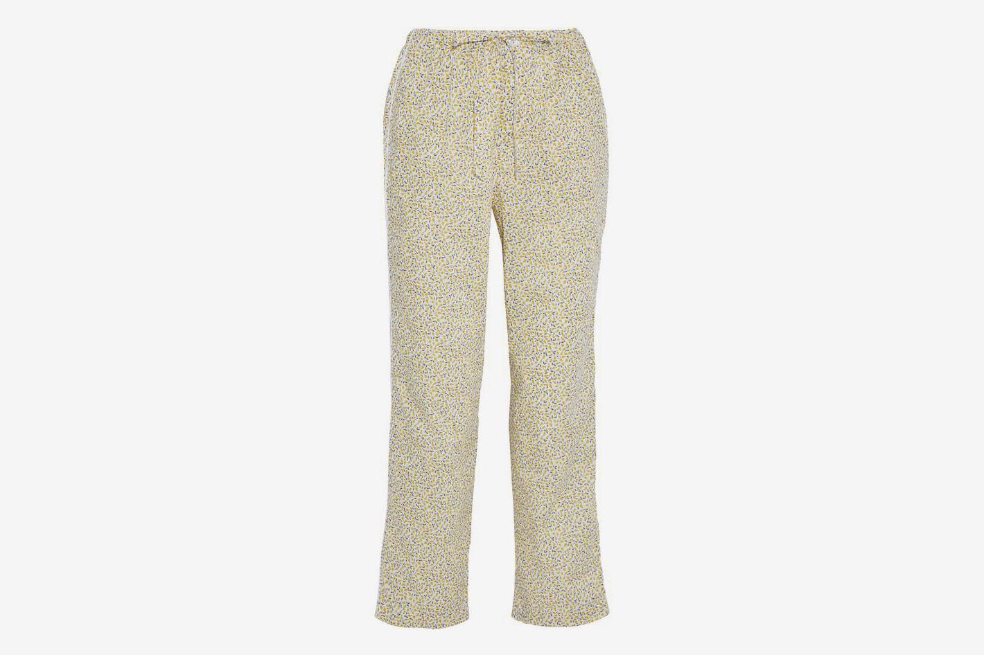 Marina Printed Cotton-Poplin Pajama Pants