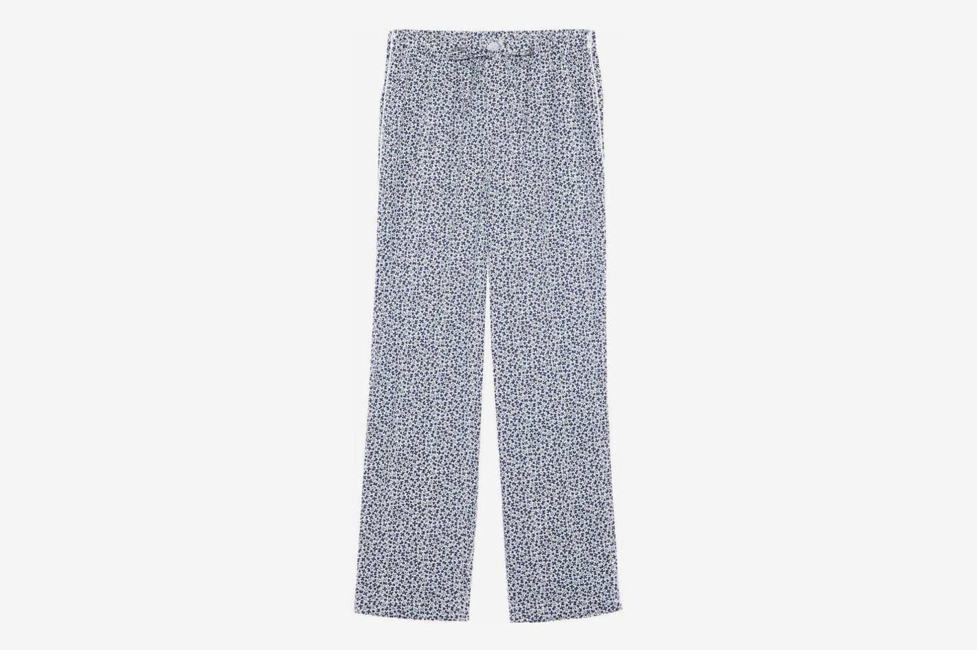 Marina Printed Cotton-Jersey Pajama Pants