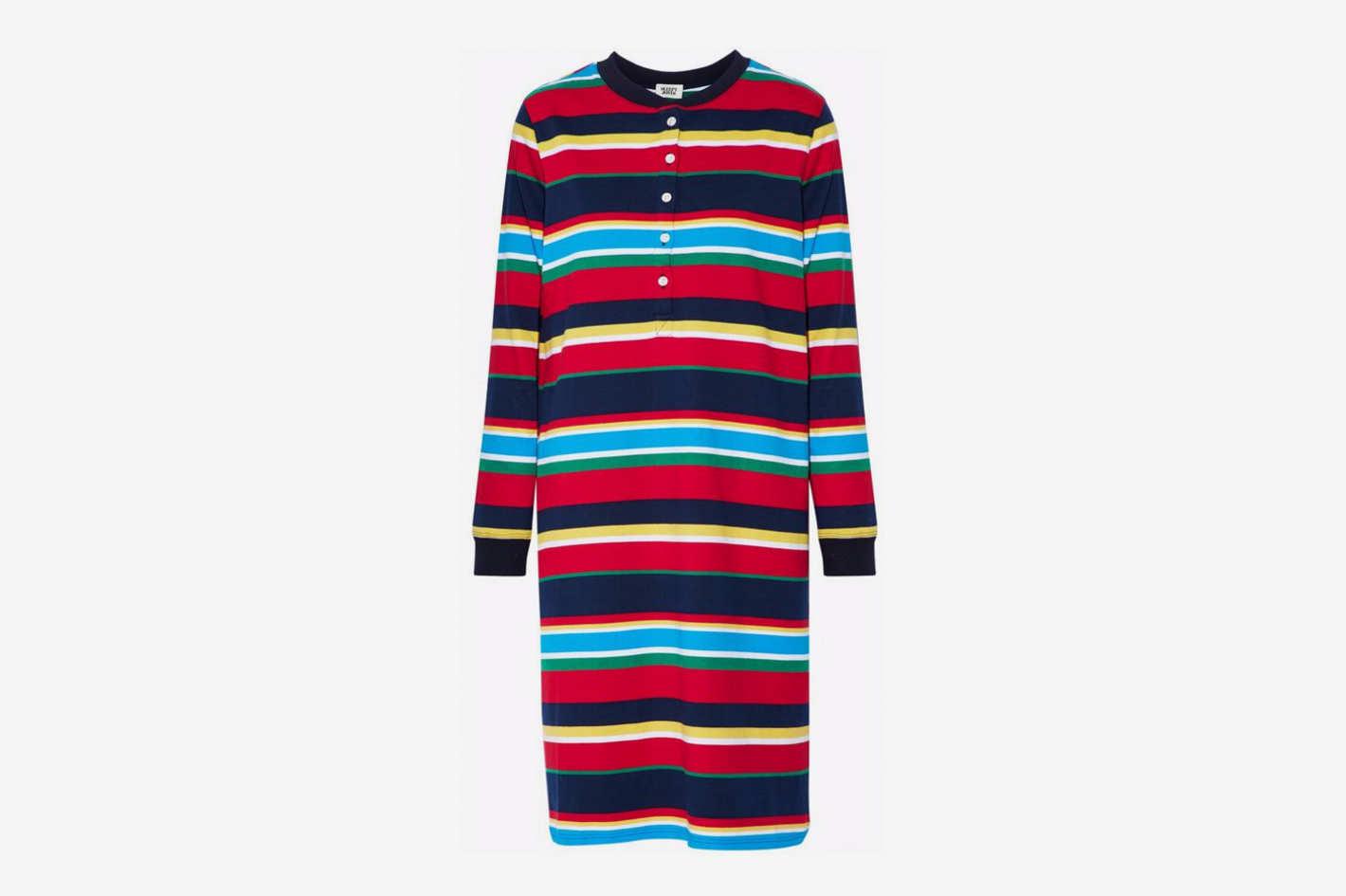 Striped Cotton-Jersey Nightdress