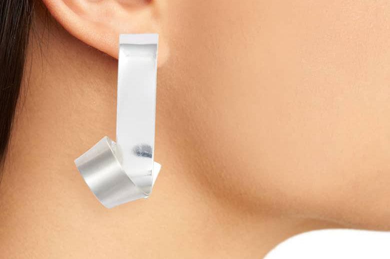 Canvas Jewelry Ribbon Earrings