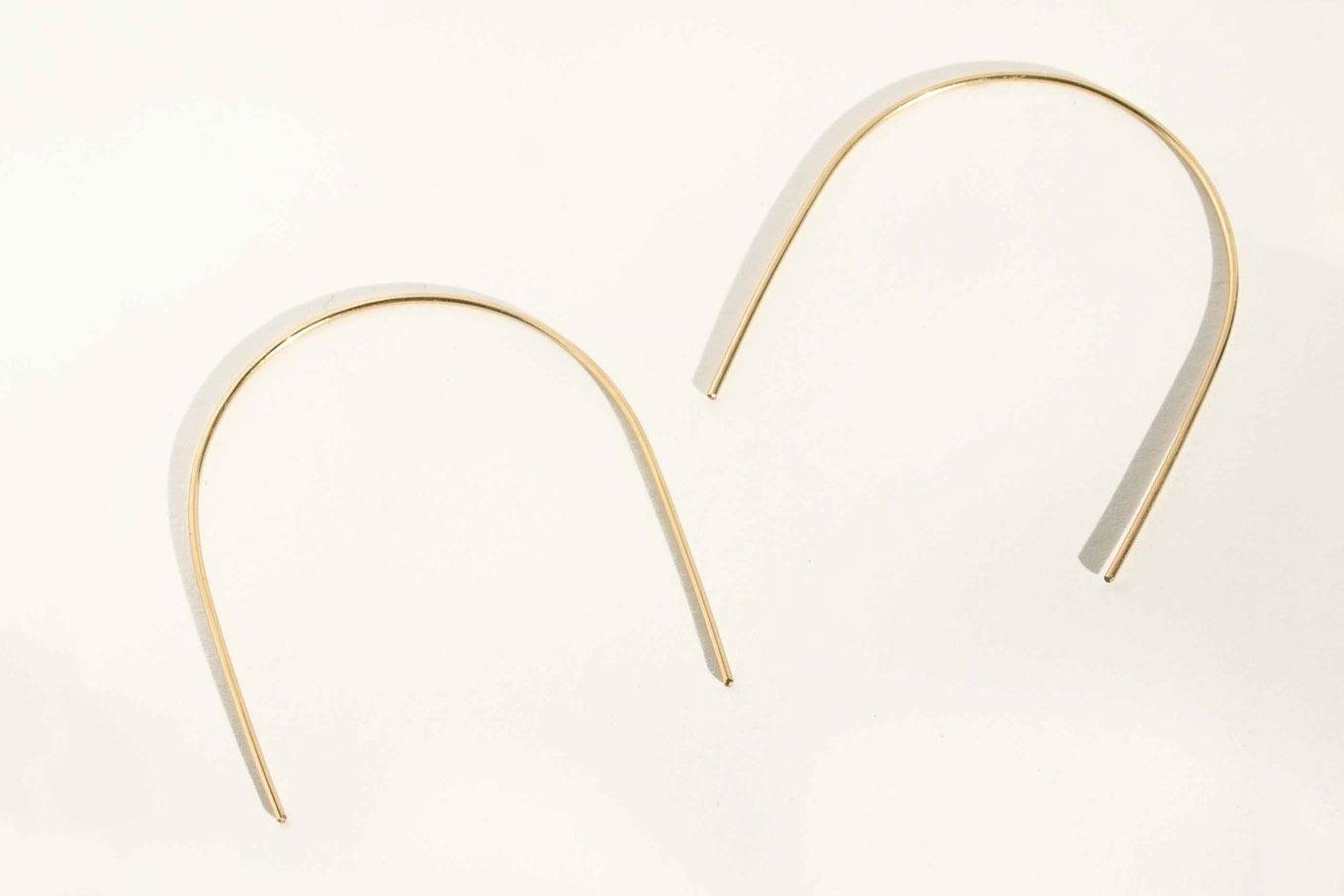 Minoux Open Arch Hoop Earrings
