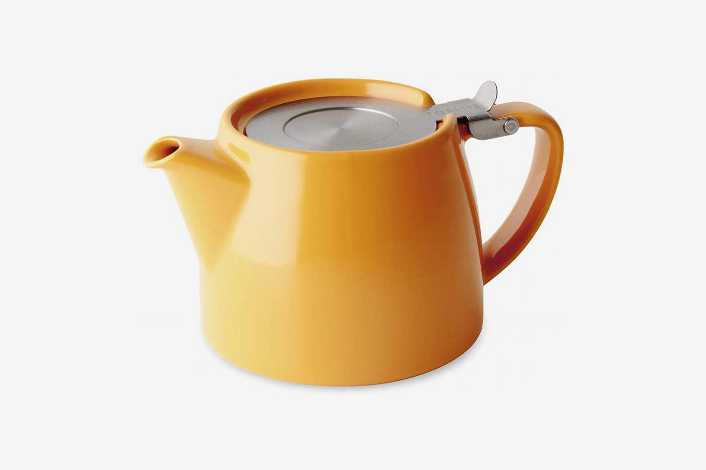 FORLIFE Stump Teapot, 18oz, Mandarin