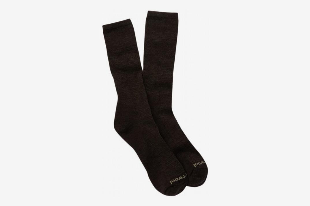 Mens Nailhead Grid Tall Socks, Chestnut