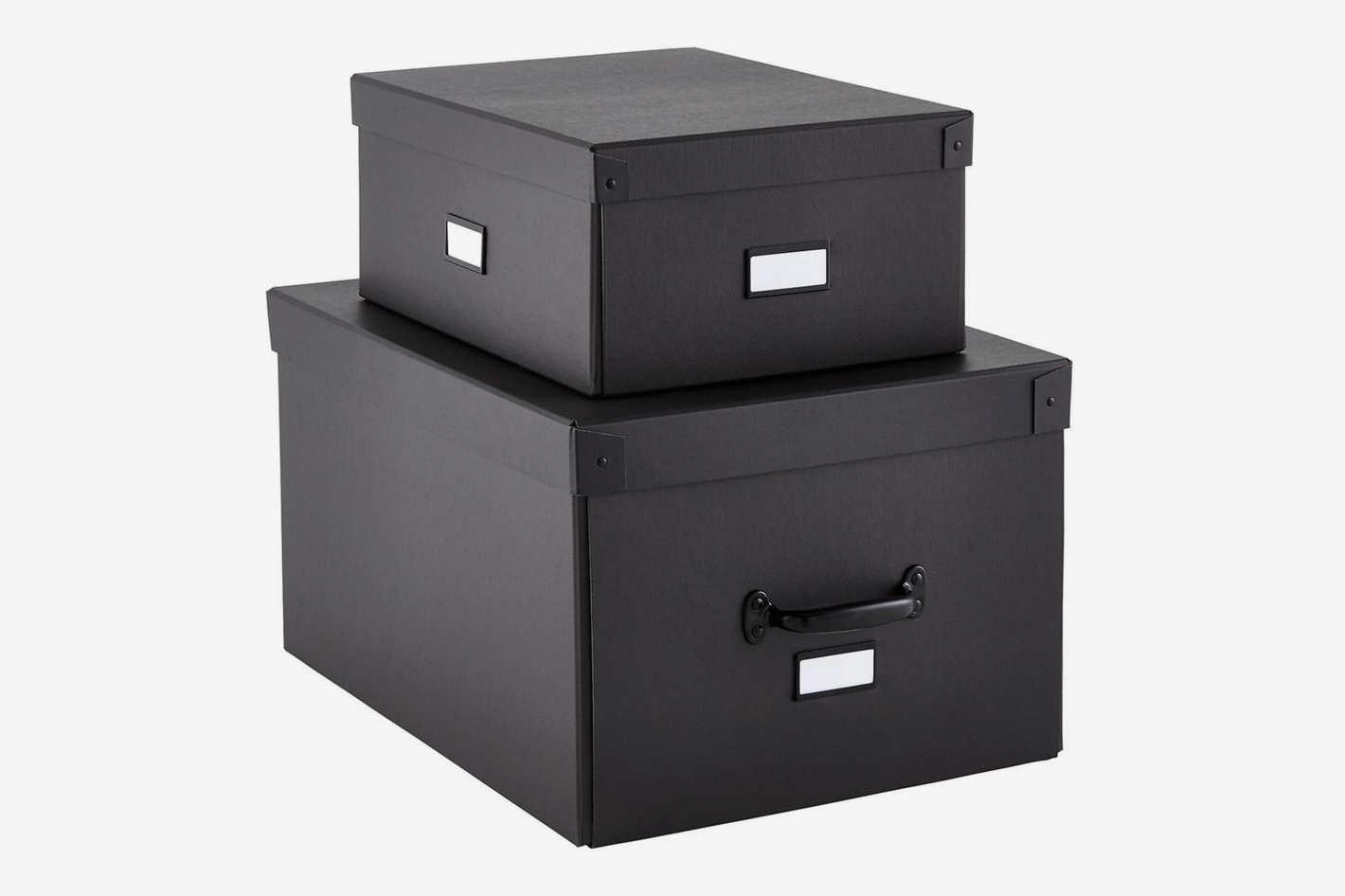 The Container Store Graphite Bigso Storage Boxes
