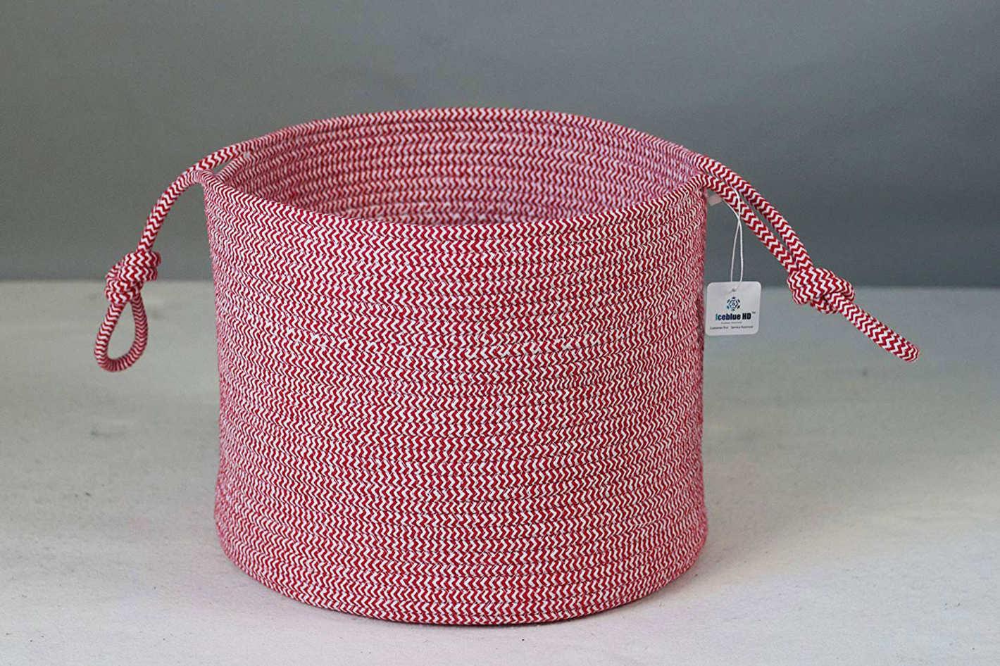 ICEBLUE Cotton Rope Laundry Basket