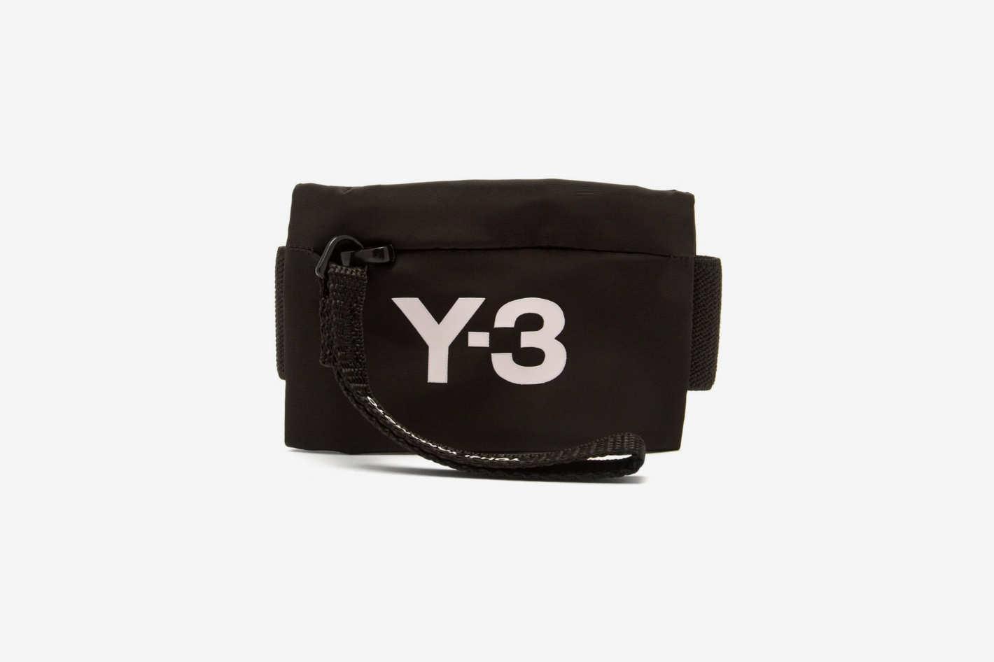 Y-3 Logo-Print Mini Wrist Pouch