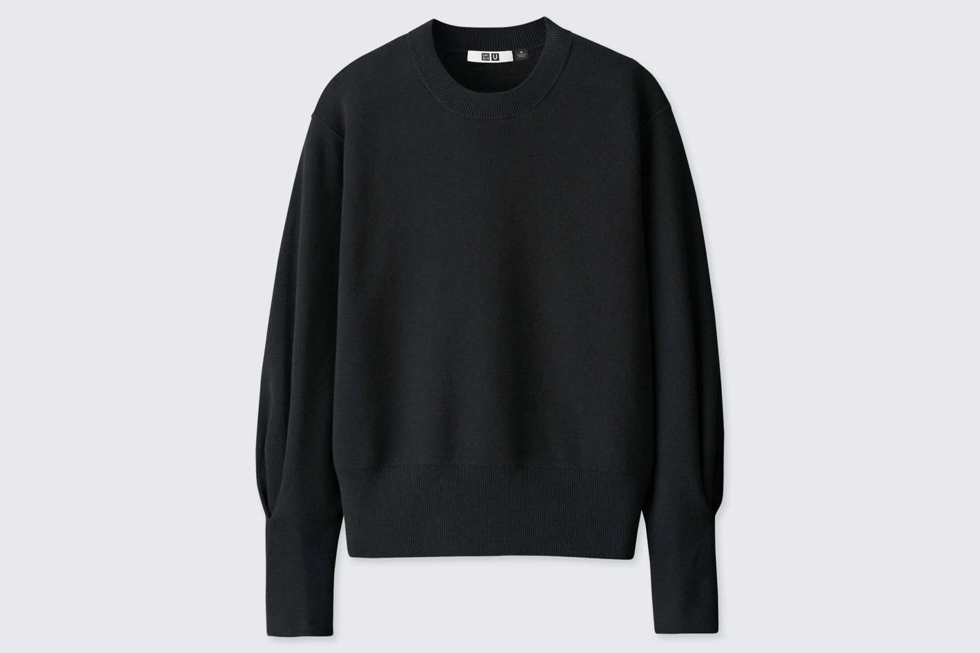 Uniqlo Women's U Milano Ribbed Relaxed Crew Neck Sweater