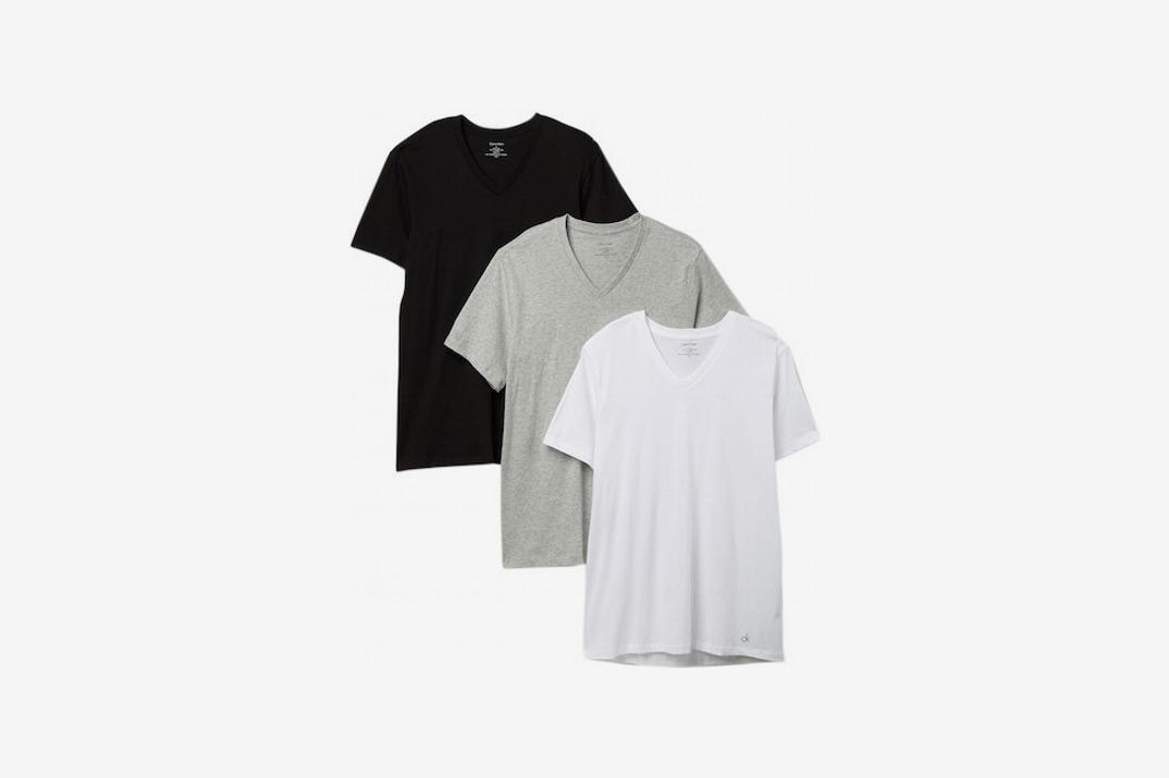 Calvin Klein Cotton V-Neck Tee - Pack of 3