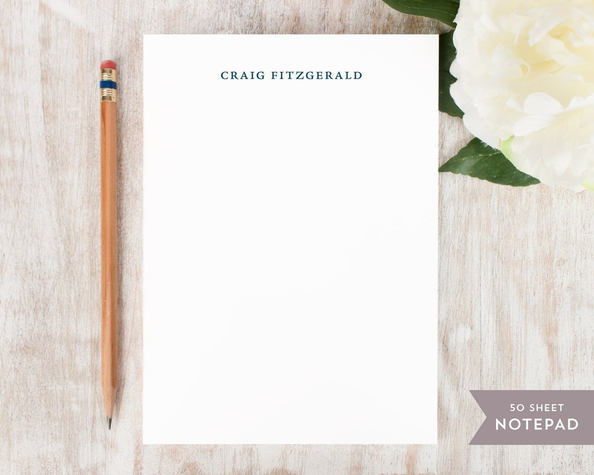 Curio Press Personalized Professional Stationery Notepad