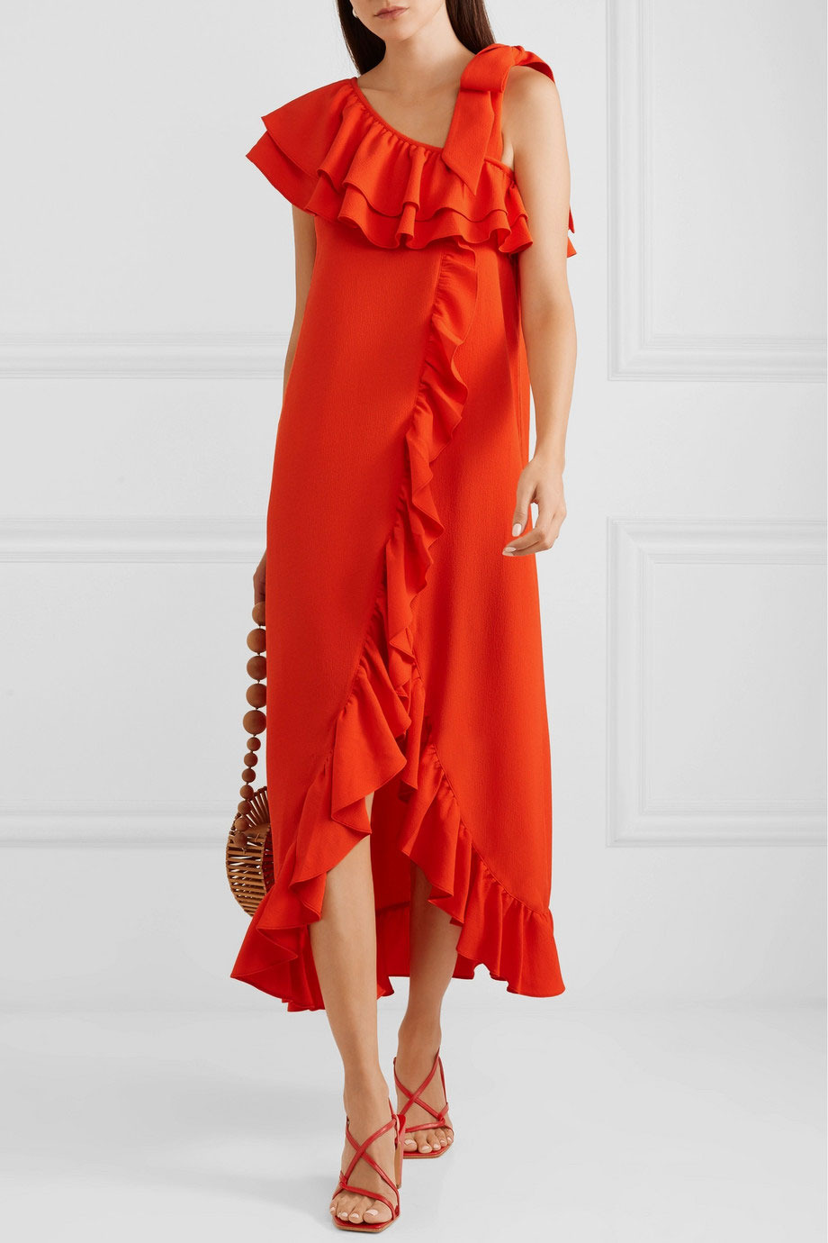 Ganni Clark Ruffled Maxi Dress