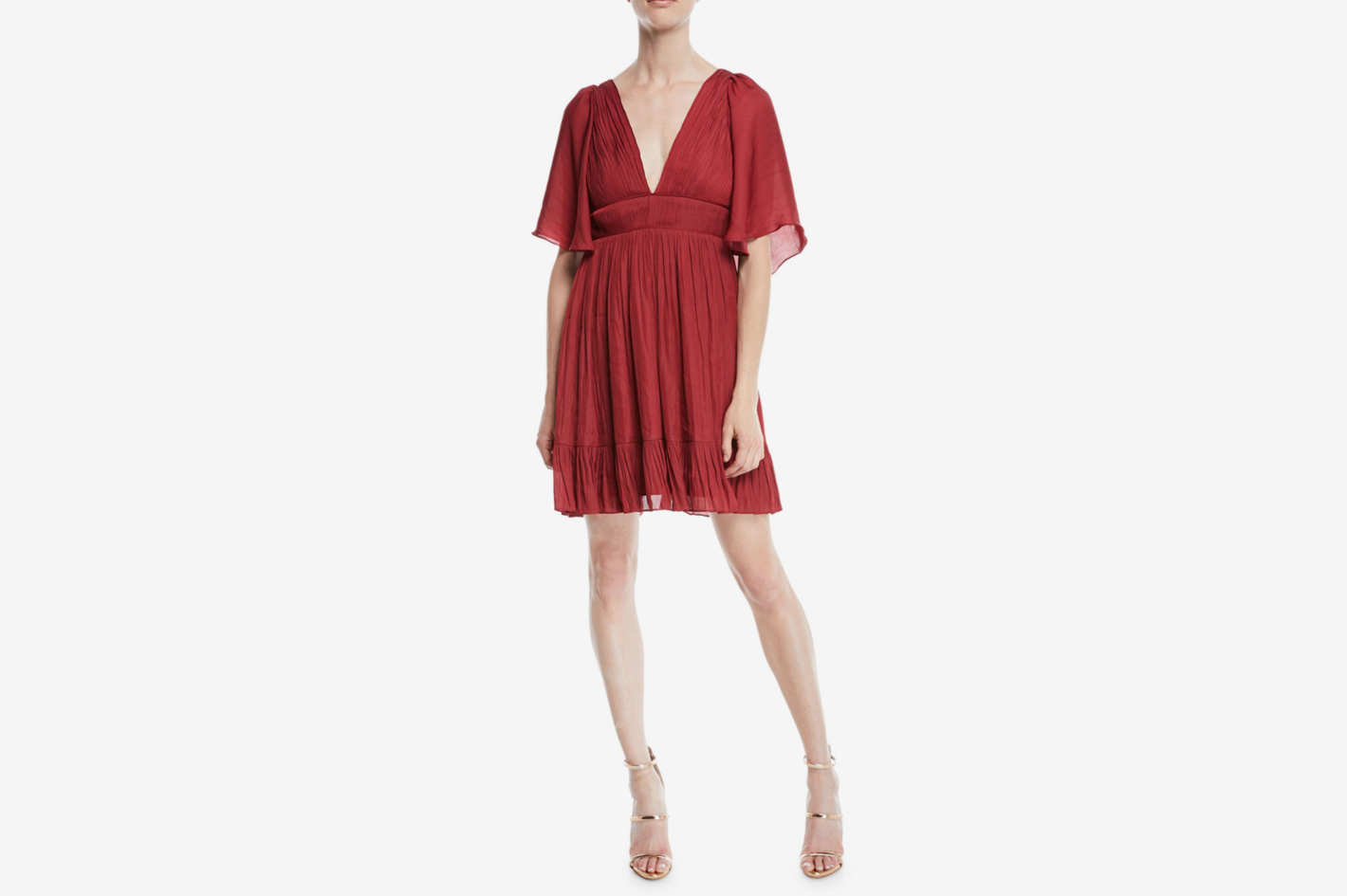 Halston Heritage Flowy Mini Dress