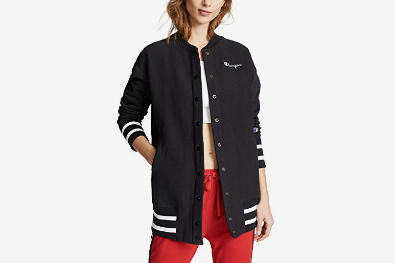 Champion Premium Reverse Weave Maxi Full Snap Sweatshirt