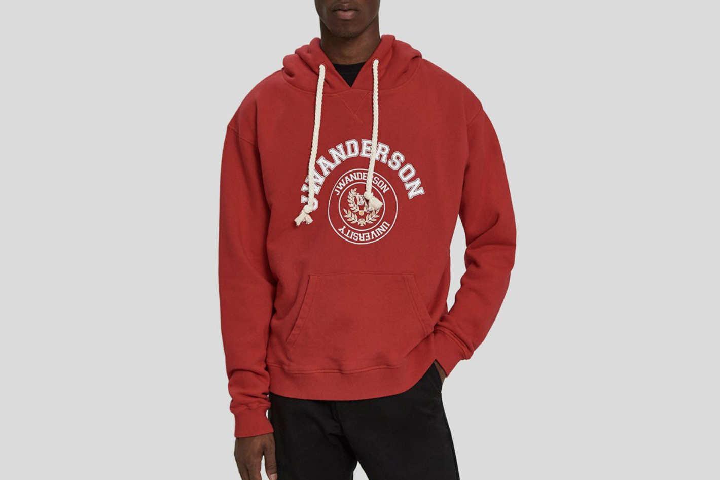 J.W. Anderson University Print Pullover Hoodie