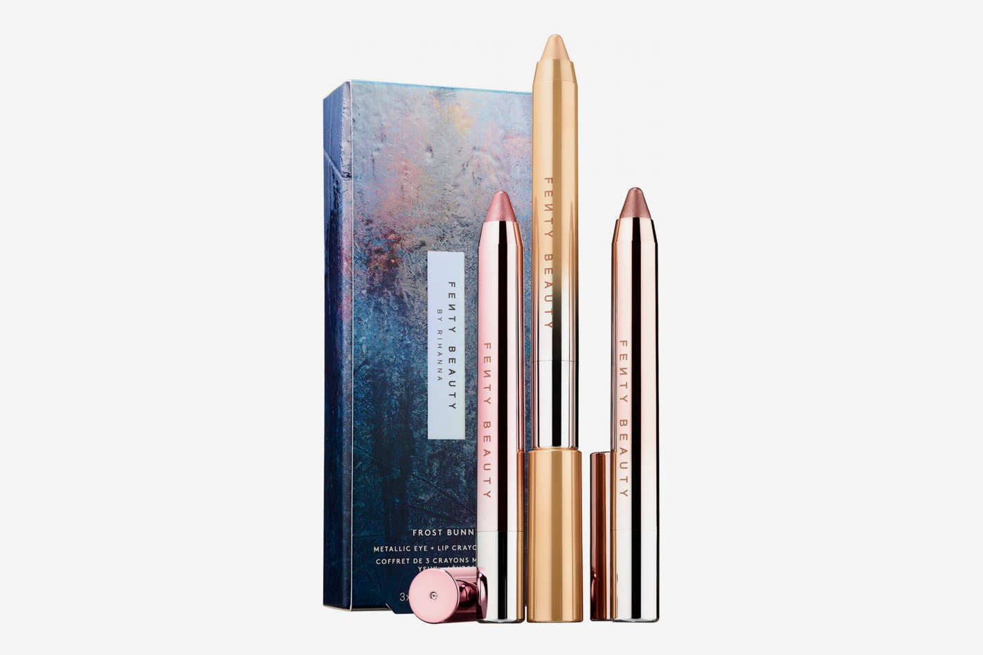Fenty Beauty by Rihanna Frost Bunny Frosted Metal Lipstick 3-Piece Set
