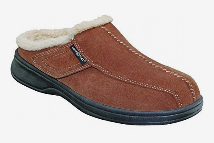 Orthofeet Asheville Arch Support Orthopedic Leather Slippers