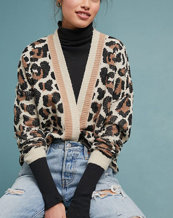 Luella Leopard Cardigan