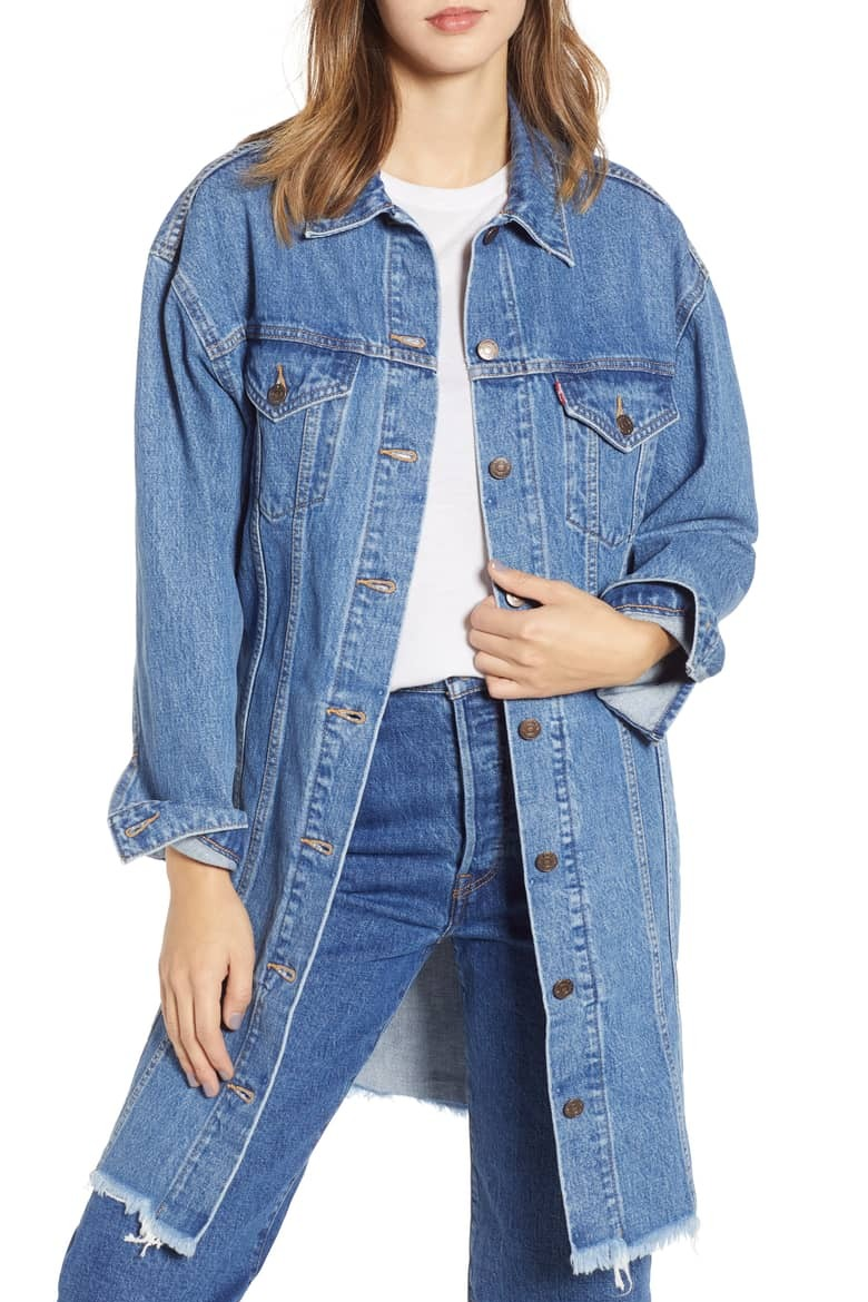Levi's Extra Long Denim Trucker Jacket
