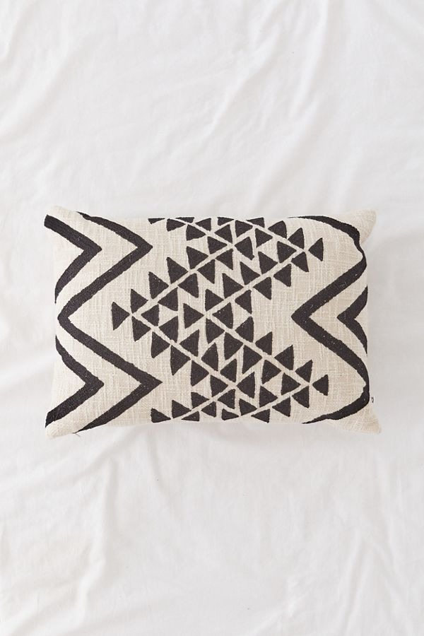 Elyse Embroidered Lumbar Pillow