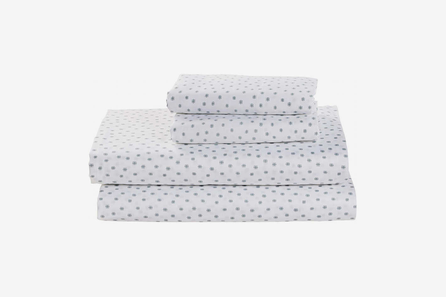 Stone & Beam Starburst 100% Cotton Sateen Sheet Set, Queen