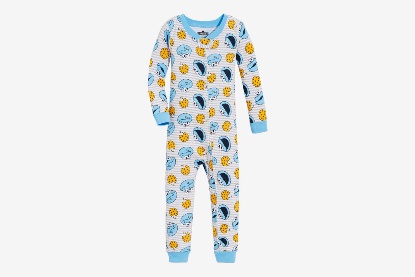 Sesame Street Toddler Boys Cookie Monster Cotton Pajamas