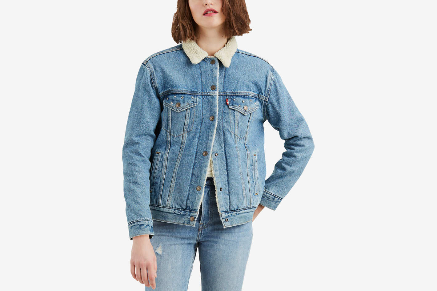 Levi's Ex-Boyfriend Fleece Denim Jacket