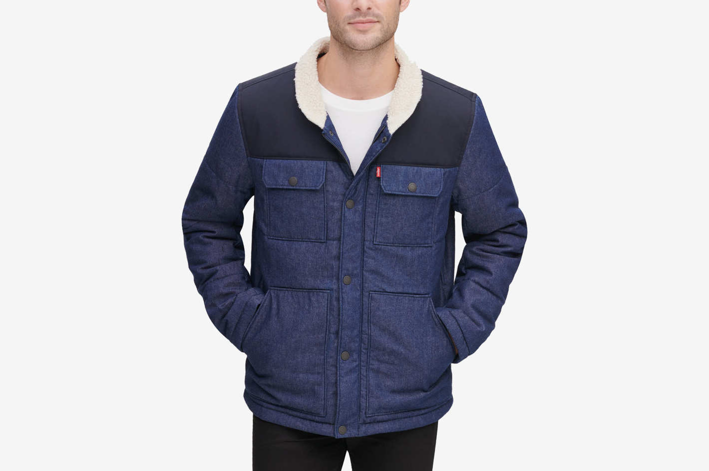 Levi's Men's Mixed Media Woodsman Jacket