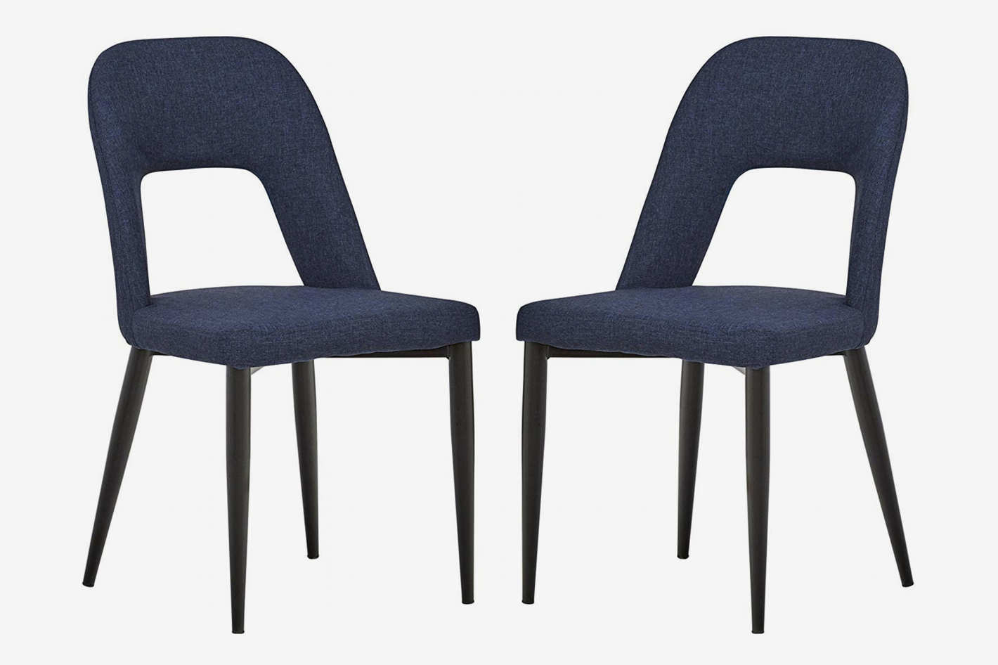 Rivet Florence Mid-Century Wide Open-Back Accent Dining Chairs (Set of 2)