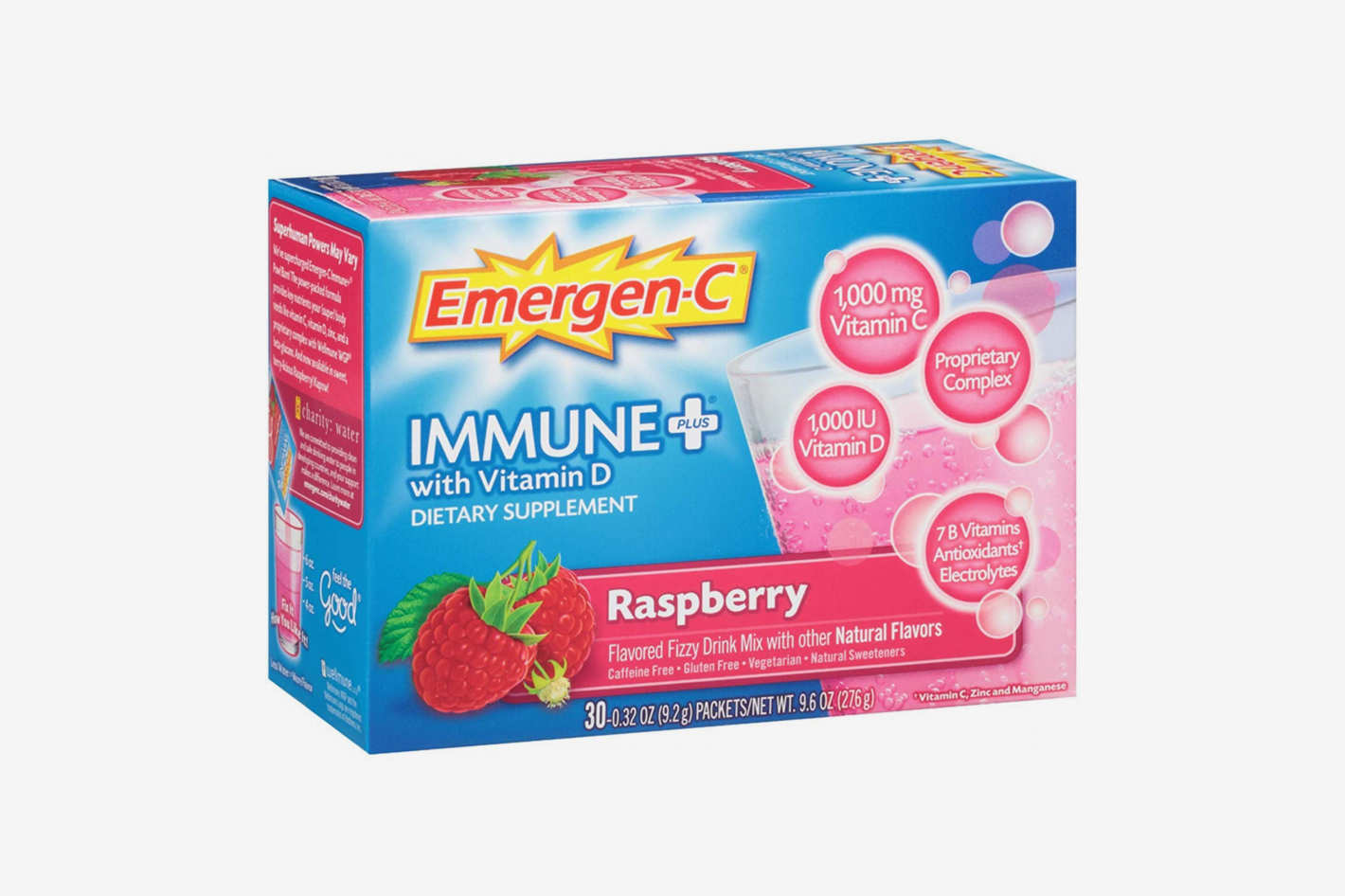 Emergen-C Immune+ System Support Dietary Supplement Drink Mix With Vitamin D, 30 packets