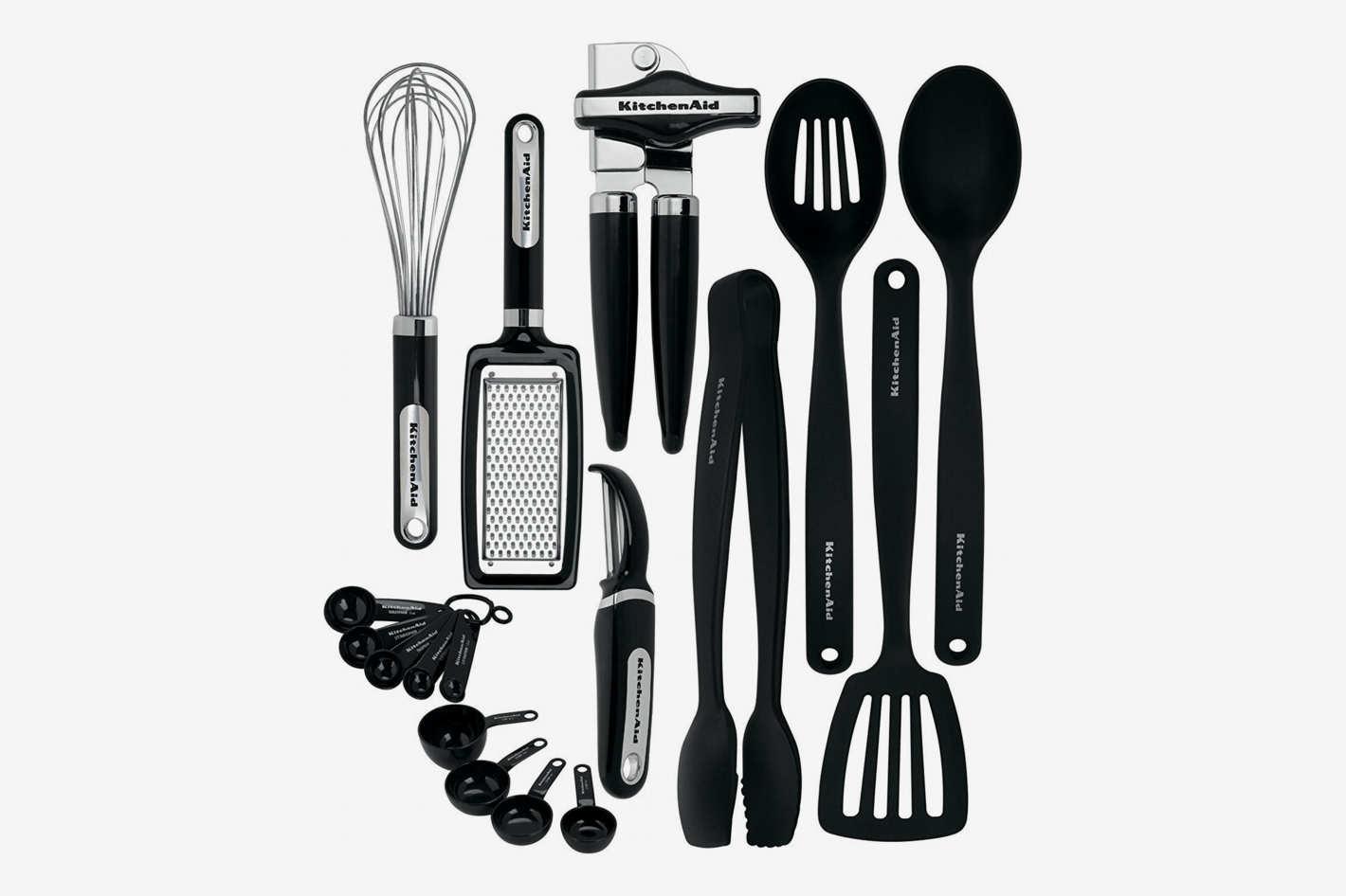 KitchenAid 17-Piece Tools and Gadget Set, Black