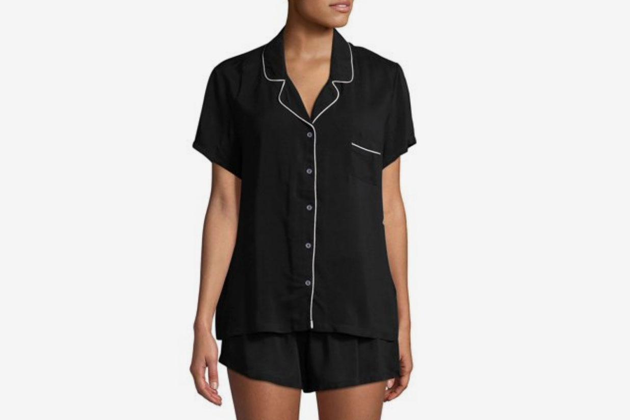 Splendid Notch Collar Shortie Pajama Set