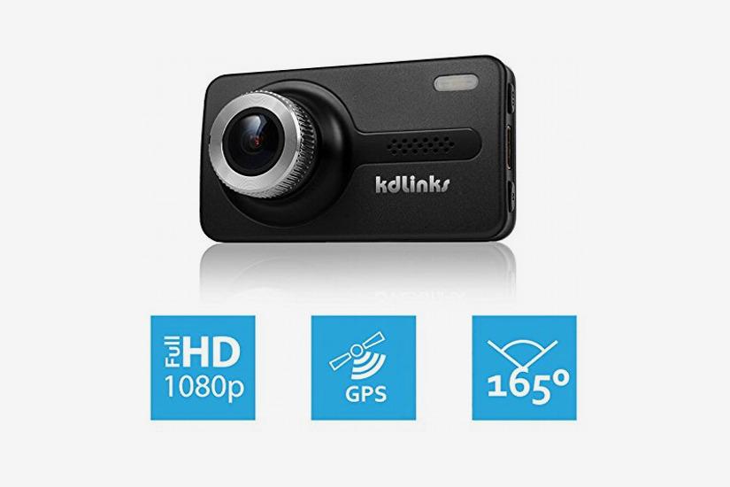 KDLINKS X1 Full-HD 1920 x 1080 165-Degree Wide Angle Dashboard Camera
