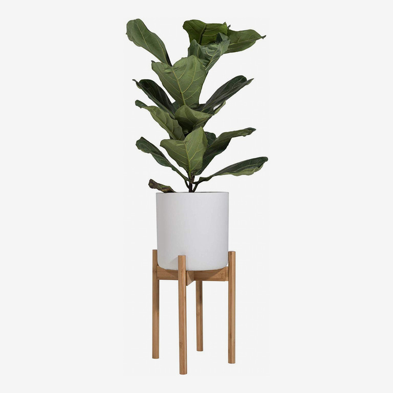 Sona Home Adjustable Mid Century Plant Stand