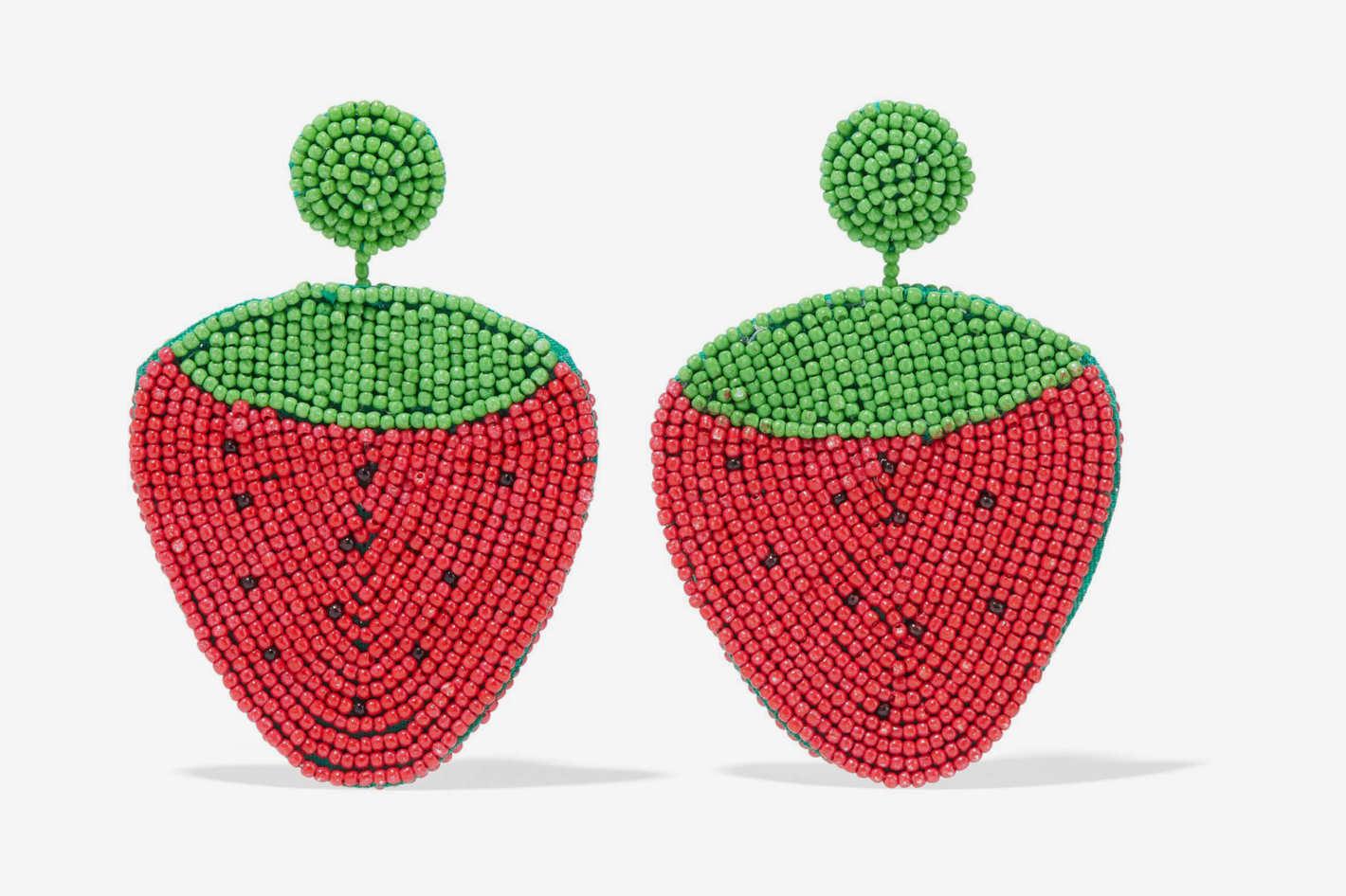 Kenneth Jay Lane Strawberry Earrings