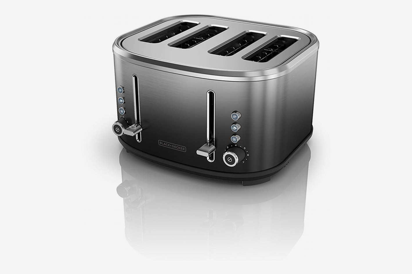 BLACK+DECKER 4-Slice Extra-Wide Slot Toaster, Stainless Steel