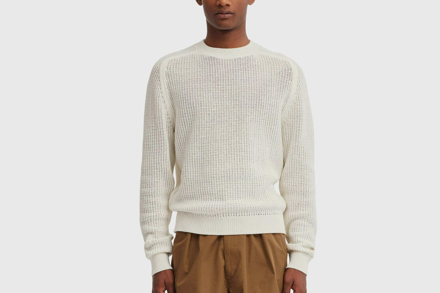 Men U Cotton Crew Neck Long-Sleeve Sweater