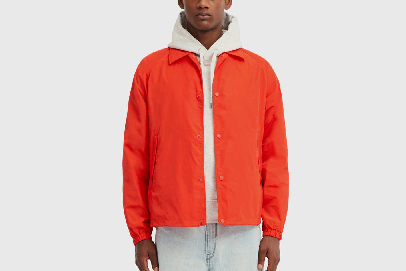 Men U Pocketable Coach Jacket