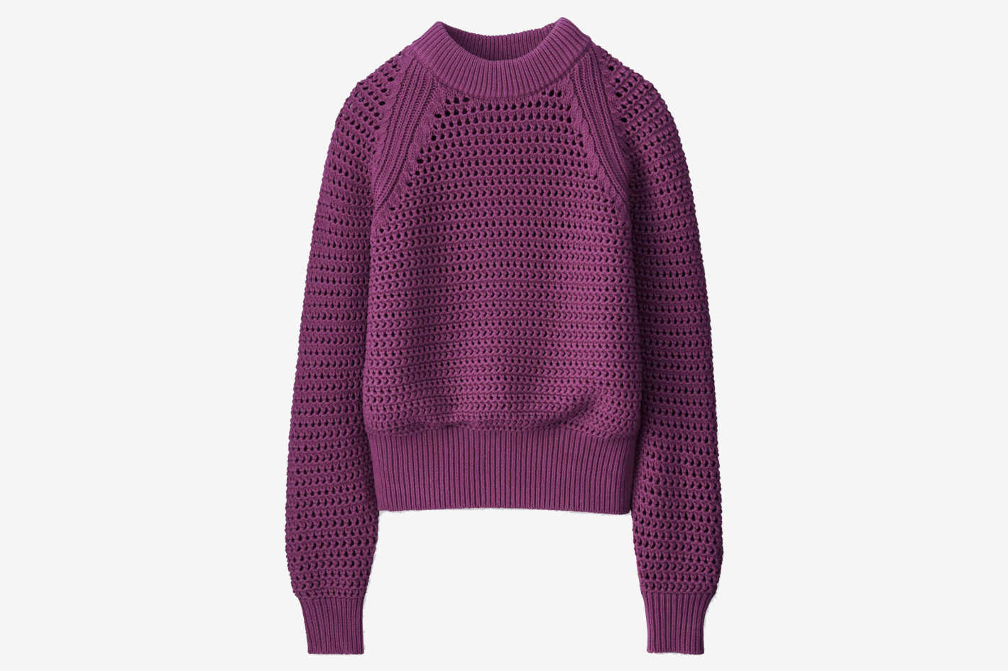 Women U Mesh Oversized Sweater
