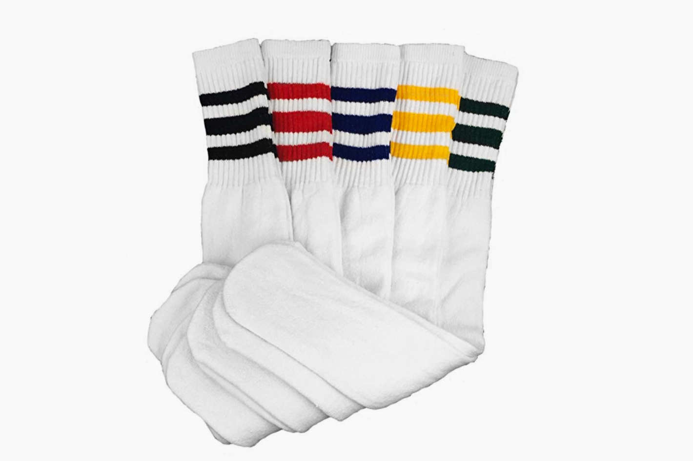 Dream Field Mens Classic Multi Striped Sports Tube Socks