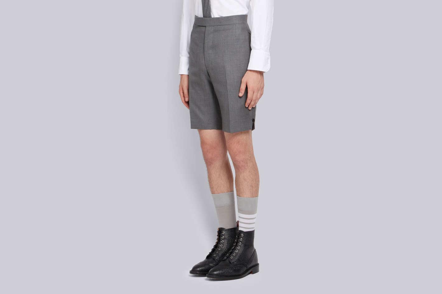 Thom Browne Classic Backstrap Short in Medium Gray