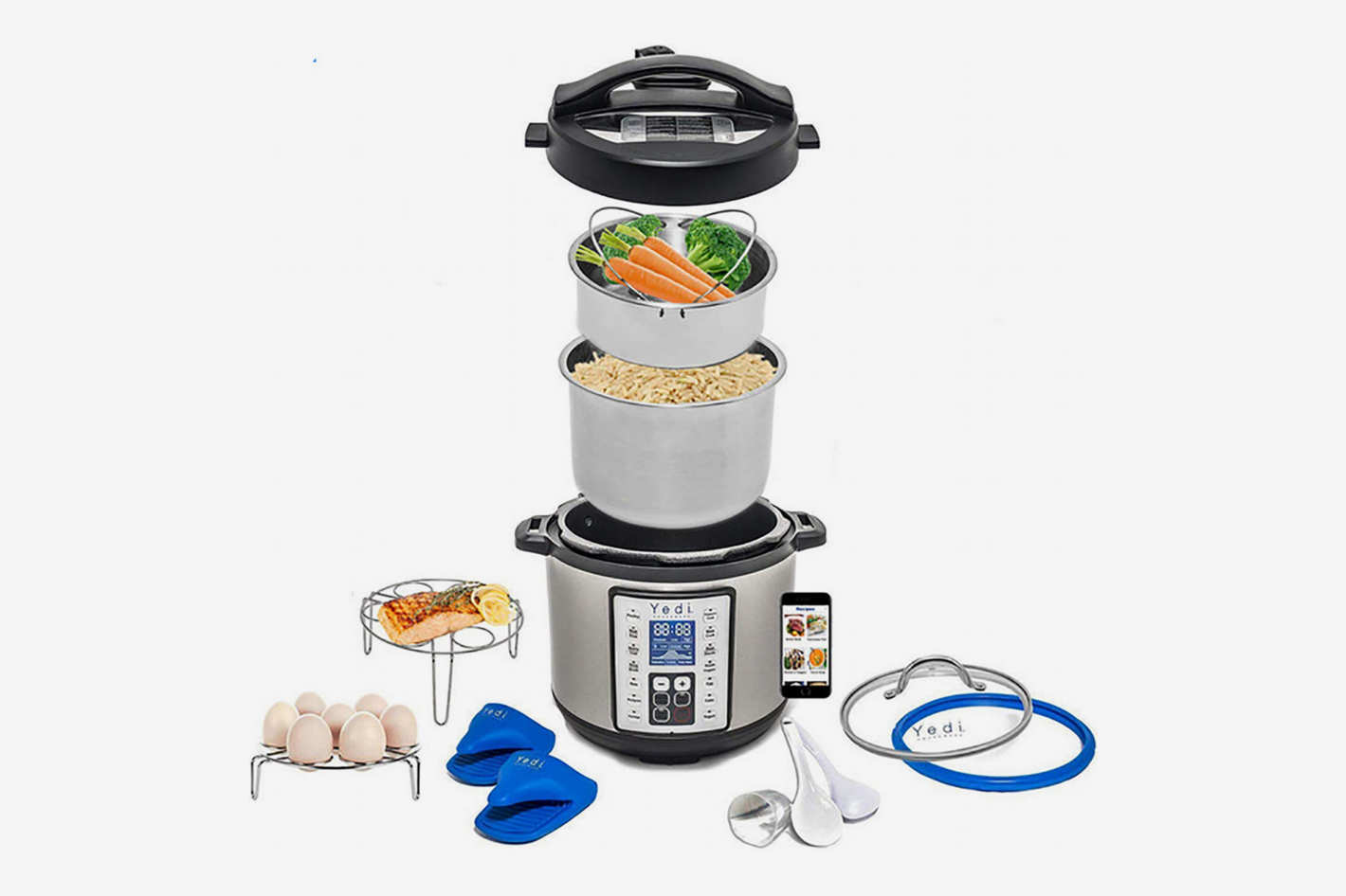 Yedi Houseware Total Package 9-in-1 Instant Programmable Pressure Cooker