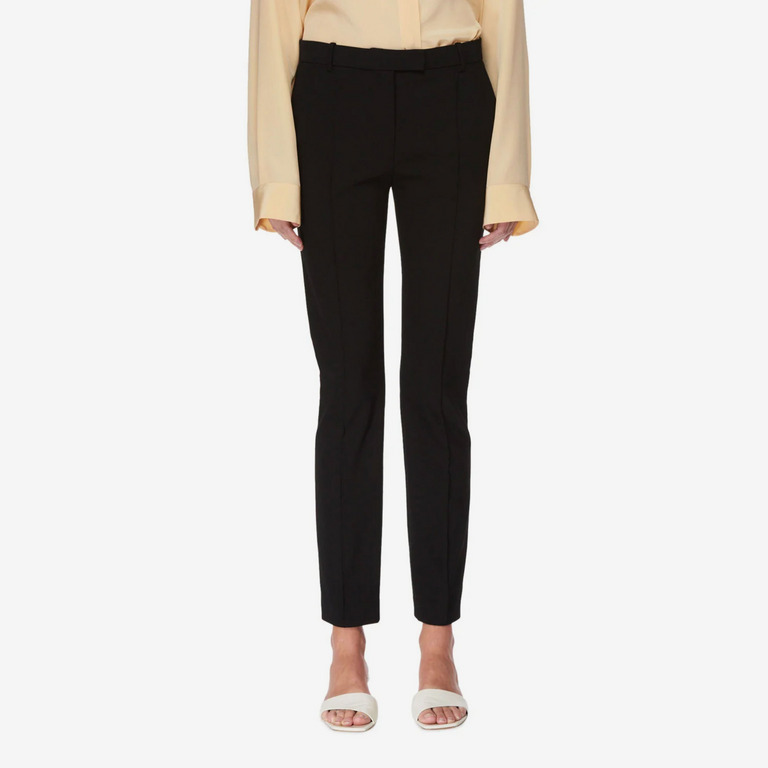 The Row Tao Straight-Leg Stretch-Cotton Pants