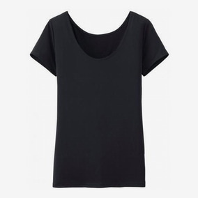 Uniqlo AIRism Scoop Neck Short-Sleeve T-Shirt