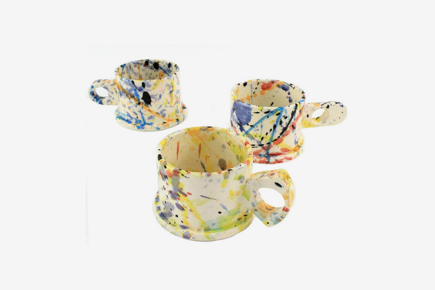 "Echo Park Pottery ""Splattered"" Short Mug"